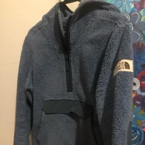 The North Face fluffy hoodie